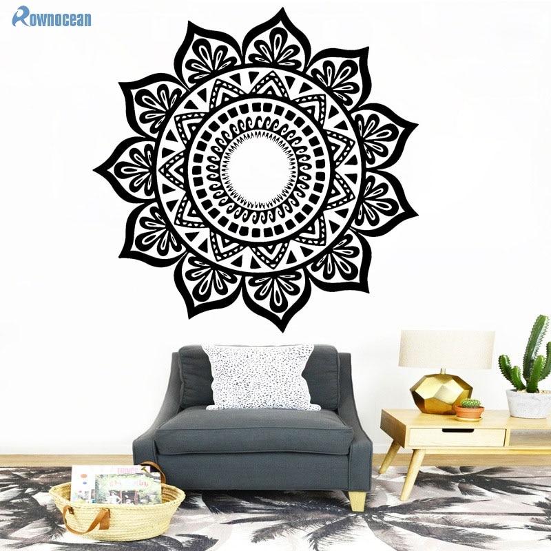Custom Color Mandala Үнді Үстел Yoga Wall Stickers - Үйдің декоры - фото 4