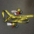 Off White C/O Virgil Abloh Belts men kanye west yellow embroidery hip hop canvas belt women harajuku punk riem cinturones femme