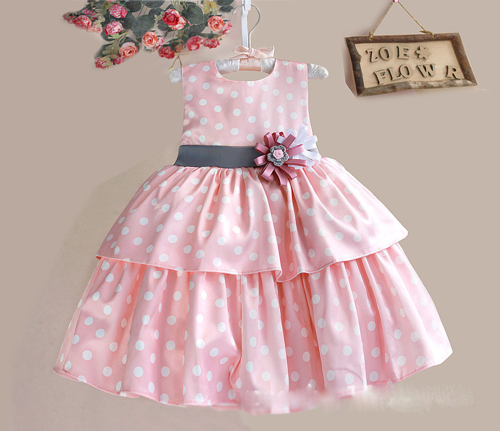 Flower Girl Dresses Baby Girl Dress Handmade Pink Promotion-Shop ...
