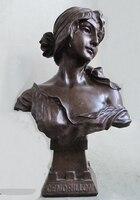 008555 14 красивый чистый бронзовая скульптура искусства статуя cendrillon довольно милая девушка бюст