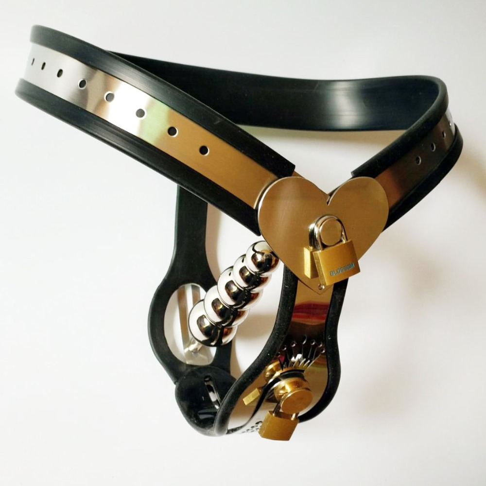 2018 New Top stainless steel silicone female chastity belt