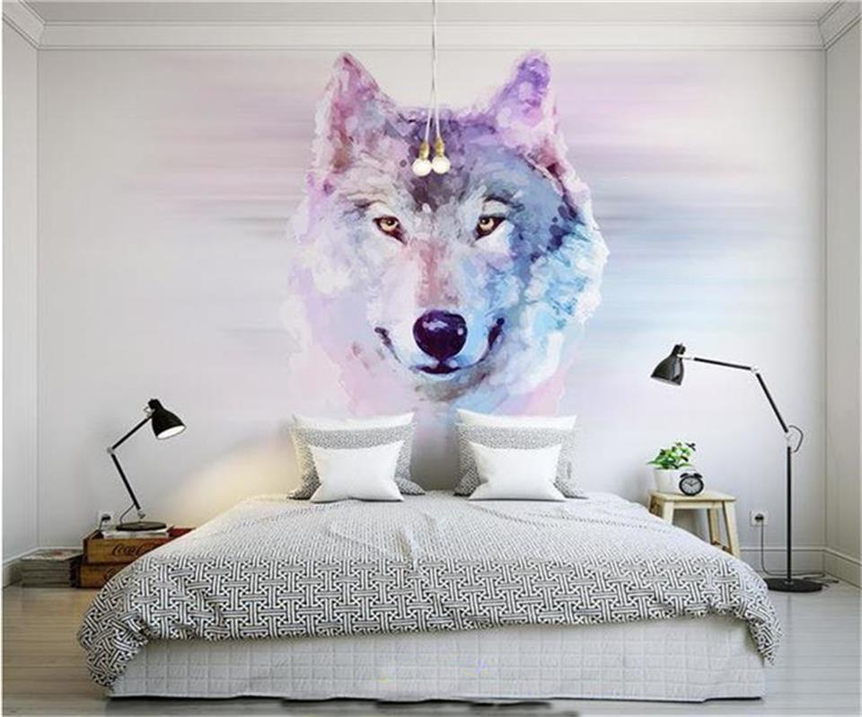 3d Wallpaper Photo Custom Size Mural Clever Animal Wolf