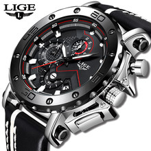 New Fashion Watch Men LIGE Top Brand Sport Watches Mens Quartz Clock Man Casual Military Waterproof WristWatch Relogio Masculino(China)