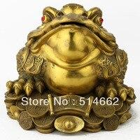 Большой фэн шуй Латунь Три ноги жаба/Деньги лягушки/большие деньги лягушки