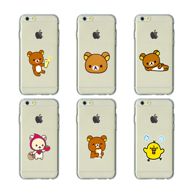 wholesale dealer c3a37 9c853 US $1.64 34% OFF|rilakkuma bear TPU soft Silicone clear cover phone case  heyday for iPhone X 6 7 8 plus 5 5s 6s se for Apple best Housing-in ...