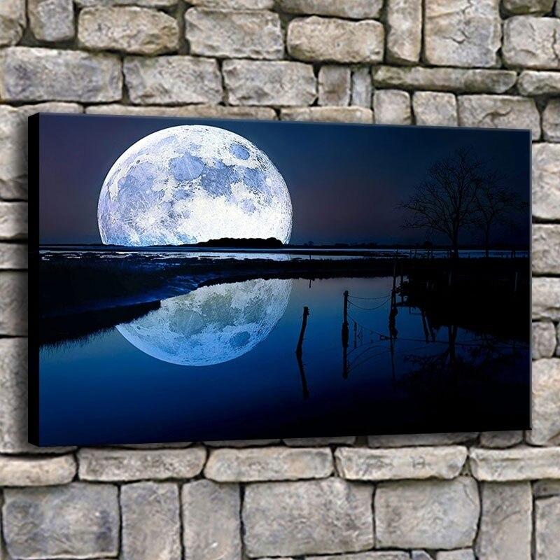 Lake reflection Home Decor Canvas Print choose your size.