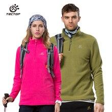 tectop brand Autumn Winter Fleece Jacket Men Women Thermal Waterproof Hiking Jacket Softshell Cycling Coat