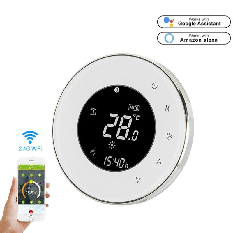Smart Wifi Thermostat Chauffage Par Le sol de L'eau LCD Écran Tactile télécommande par téléphone travail avec Alexa google maison commande vocale