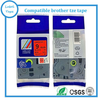 compatible Black on Red 9mm TZe-421 TZ-421 tz421 tze421 tze laminated label tapes for Brother Ptouch label printers