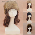 Daisy & Na Women Hat Warm New Winter Russian Cossack Style Faux Fur Fashion 017