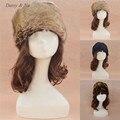 Margarida e Na mulheres russo cossaco estilo chapéu novo inverno quente falso de moda 017