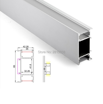 10 Sets/Lot LED aluminum profile Extruded Aluminium led profile LED aluminum Channel profile with internal driver for wall light