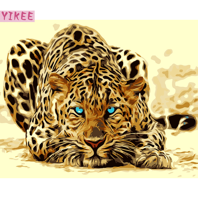 paint by number kits for adults,leopard,painting by numbers for home decoration