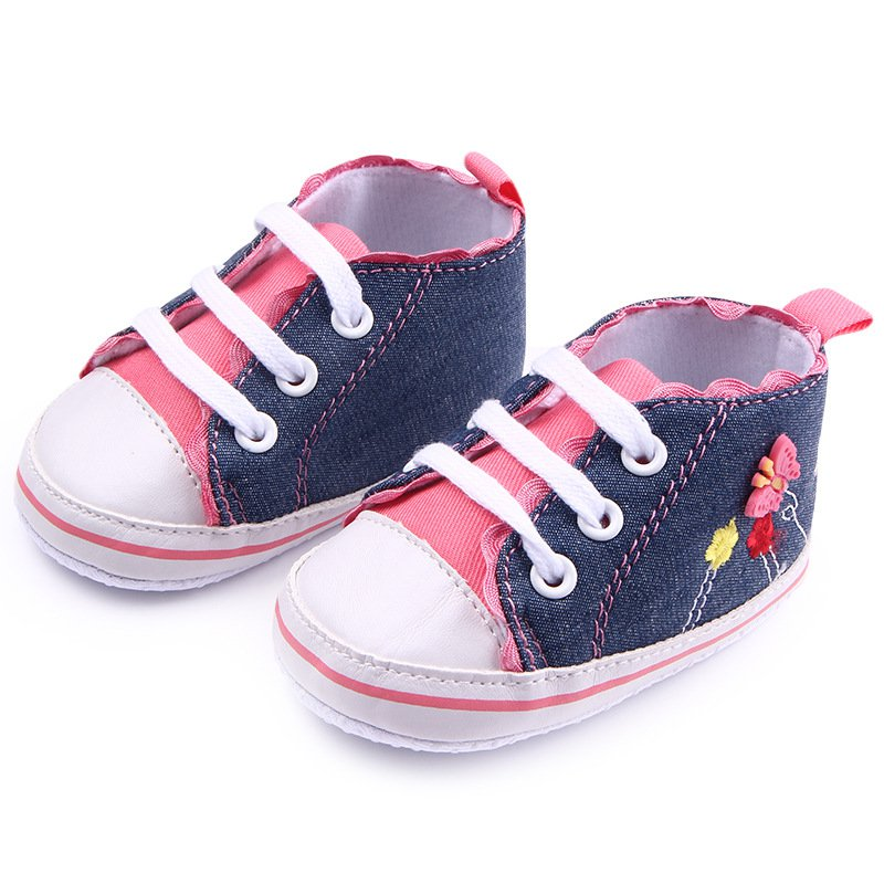 Lace Flower Pattern Infant Baby Girl Soft Sole Shoes