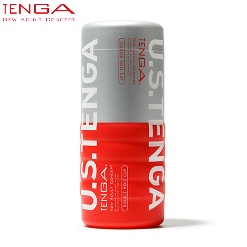 TENGA US Plus Size Double Holes Man Cup Masturbators Sex Products for Man Pussy Masturbation Cup