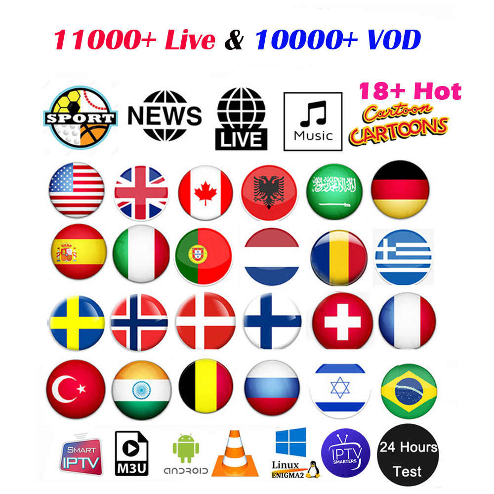 USA UK IPTV Europe Arabic French Germany Canada IPTV subscription Turkey Spain Nordic Portugal Indian Greece M3U Enigma2 Mag Box