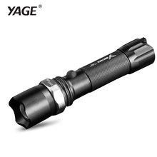 цены YAGE Flashlight Cree Lantern Tactical Rechargeable Led flashlights Zoomable Flashlight 18650 Battery not in Linternas led Lamp