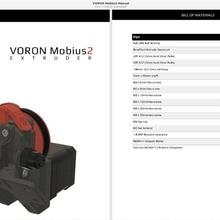3D yazıcı DIY parçaları Vida Kuruyemiş & Cıvata Paketi tutturmak vidalar seti DIY Voron Mobius2 ekstruder 3D yazıcı