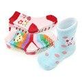 Doce Pares Un Conjunto Suave Lindo Animal de Seis Diseños de Colores Resbalón-prueba Del Bebé Calcetines Cortos 0-12 Meses