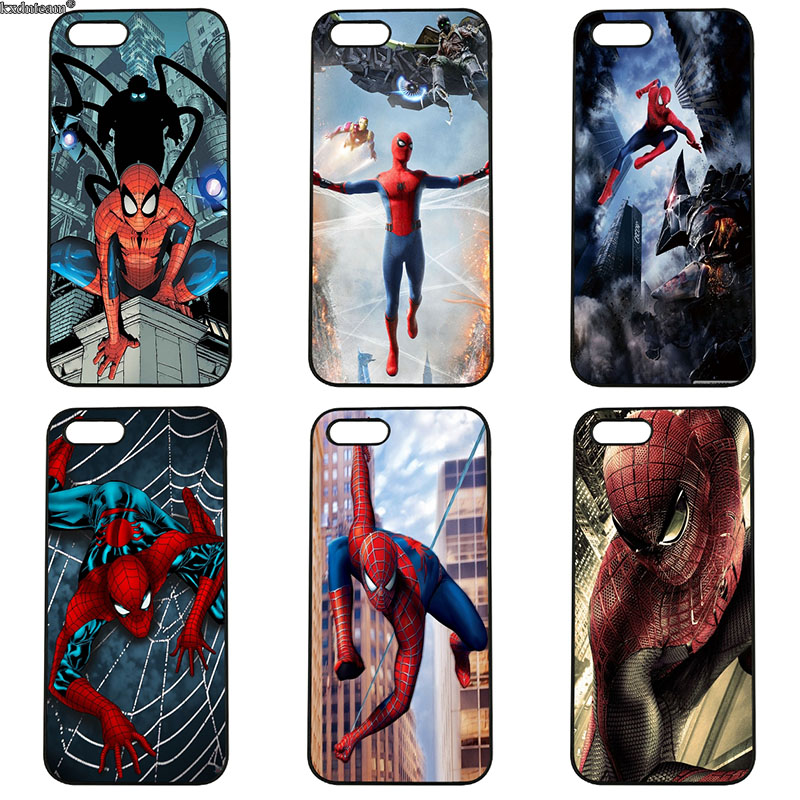 Cell Phone Case Marvel Comics Spider-Man Spider Man Homecoming for iphone 8 7 6 6S Plus X 5S 5C 5 SE 4 4S iPod Touch 4 5 6 Shell