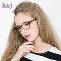 Moda Retro quadro óculos sem lentes miopia simples espelho De moda armação De óculos acessórios
