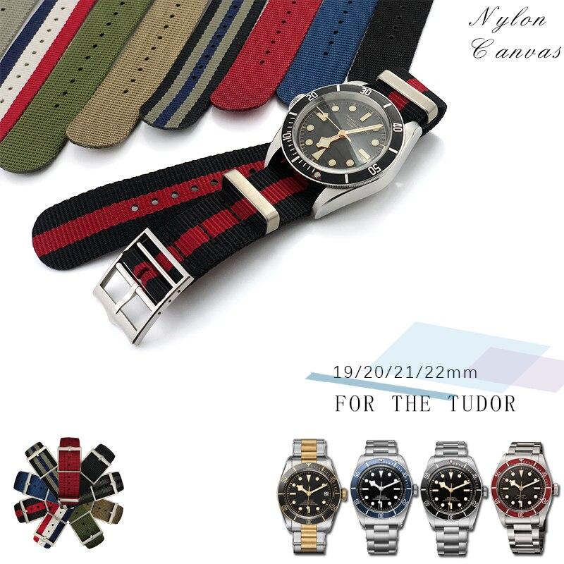 Модный спортивный ремешок высокого качества, тканевый нейлоновый ремешок Nato специально для Tudor Black Bay, красочные браслеты для часов для мужчин 20 мм 22 мм