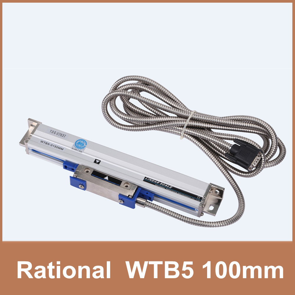 Free Shipping Rational WTB5 0.005mm 100mm linear scale TTL 5V optical sensor for milling lathe CNC free shipping high precision easson gs11 linear wire encoder 850mm 1micron optical linear scale for milling machine cnc