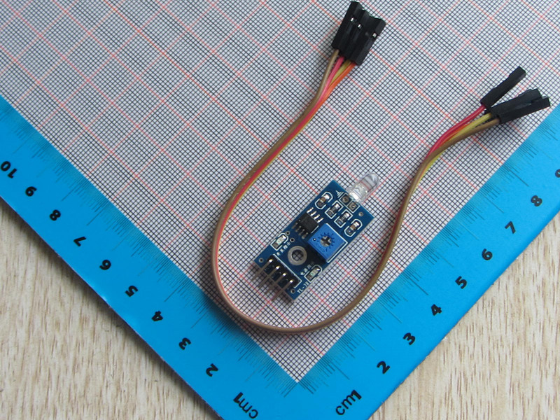 2PCS STC89C52 Photodiode Module Photoresistor Module +Free 4pcs 20cm Dupont Wire