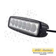 1pcs 18W LED Car Light Lamps For Cars SUVs 6 Vehicle Fog Waterproof 6000k Spotlight Auto Headlight Bulbs