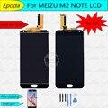 Высокое Качество Нового ЖК-Дисплей + Экран ассамблея Дигитайзер Сенсорный с рамка Для Meizu M2 Note Телефон 5.5 дюймов 1920*1080 Черный Цвет