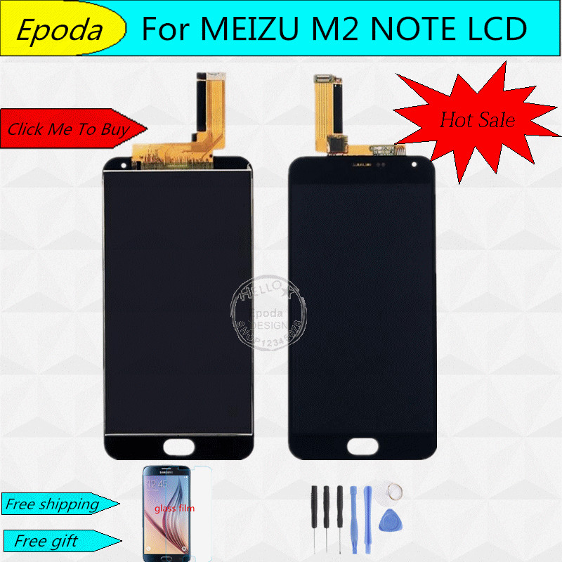 High Quality New LCD Display Digitizer Touch Screen assembly with frame For Meizu M2 Note Phone