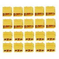 10 pares macho fêmea xt90 banana bala conector plug para rc lipo bateria banhado a ouro banana plug|Peças e Acessórios| |  -