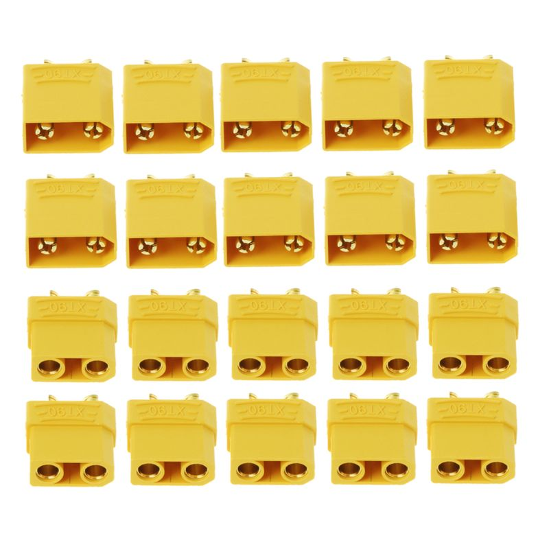 Free Shipping 10 Pairs Female Male XT90 Banana Bullet Connector Plug For RC LiPo Battery Gold Plated Banana Plug