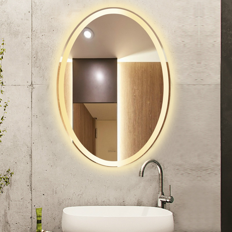 Bathroom Oval shape Led Wall Sconce Mirror Led Lamp Oval Mirror Light Toilet Makeup Mirror Led wall light with Touch switch 1
