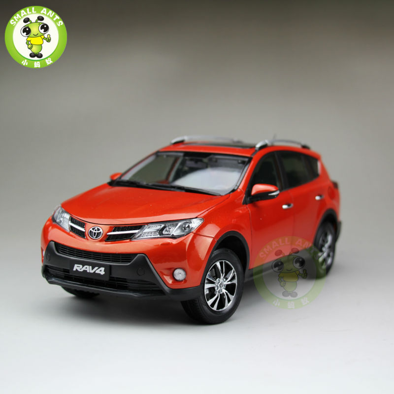 1:18 Scale Toyota RAV4 Diecast SUV Car Model Toys for gifts collection hobby Orange diffuseur arrière carbone bmw x4 f26