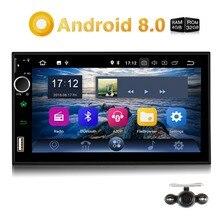 """Zucca Qcta-Core 4 GB di RAM 32 GB di ROM Car Stereo 2 Din """"android 8.0 Universal Car Radio GPS navigazione di Video Audio Player NO DVD"""