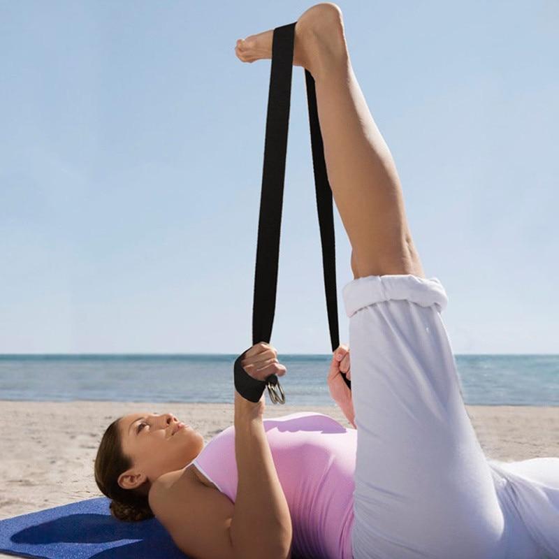 183CM Sport Yoga Stretch Strap D-Ring Belt Gym Waist Leg Fitness Adjustable Belt