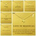 Tarjeta de Oro Resumen 1: Dogeared elefante unicornio gargantilla perla declaración collar de cadena de joyería de las mujeres Collares Colar Kolye Collier