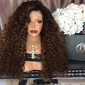 Cheap 180 Density Side Part Ombre Wig Curly Synthetic Lace Front Wig Heat Resistant Synthetic Wigs For Black Women Fast Shipping