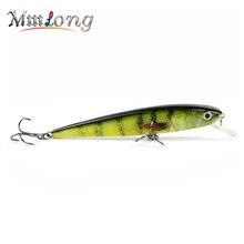 Mmlong 11cm Artificial Minnow Fishing Lure MH03 11.2g Hot Sale Fish Bait Lifelike Crankbait 5 Color Fishing Wobbler Tackle Lures