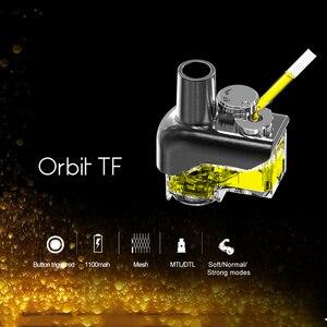 Image 4 - Oryginalny sens Orbit TF System Pod waporyzator zestaw 1100mAh bateria 3ml wielokrotnego napełniania Pod 1.5H Charing DL MTL E papieros Pod zestaw do e papierosa