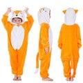 Flannel Fox Kigurumi Onesie Kids Unicorn Pajamas For Girls Animal Cartoon Hooded Boys Sleepwear Cartoon Baby Children's Pyjamas