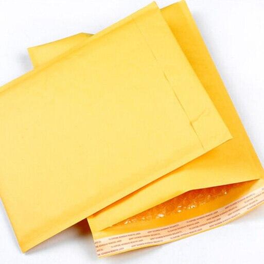 (130*230mm) 10 Teile/lose Sprudeln Werbungen Aufgefüllte Umschläge Verpackung Versand Taschen Kraft Blase Briefumschlag Taschen