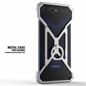 Роскошный Алюминиевый металлический чехол для Huawei Honor V20 V10 V9 10 9 8 lite, мощный защитный противоударный бампер, металлический каркас