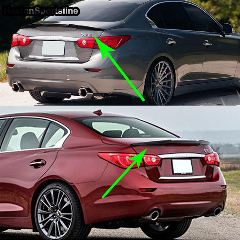 Q50 Modified M4 Style Carbon Fiber Rear Trunk Lip Spoiler Car Wing for Infiniti Q50 2013 2014 2015 2016 2017