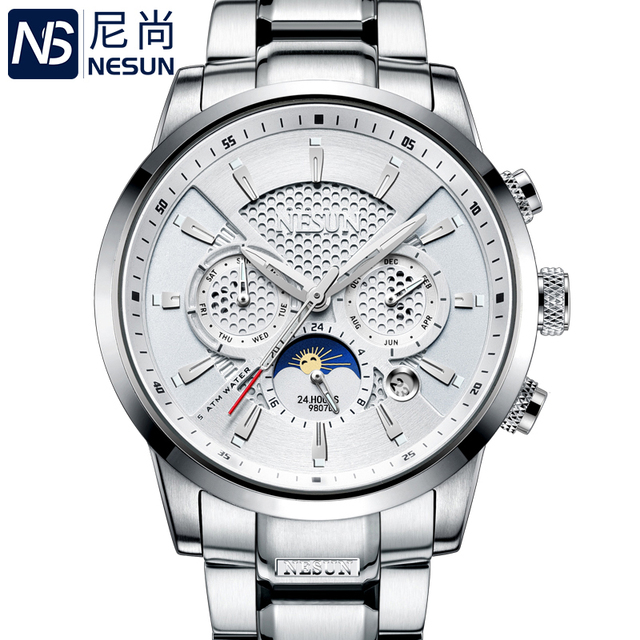 NESUN Luxury Brand Watch Multifunctional Display Automatic Mechanical 1