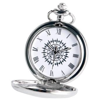 Cosplay Anime Kuroshitsuji Black Butler Silver Quartz Pocket Watch Sebastian Ciel Necklace Pendant Boy Men Gift Relogio De Bolso - discount item  36% OFF Pocket & Fob Watches