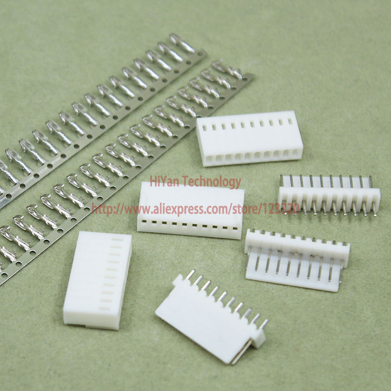 (50sets/lot) Connector Kf2510 2510 10pin Pitch:2.54mm/0.1inch 180 Degree Pin Header + Terminal + Housing Kf2510-10p