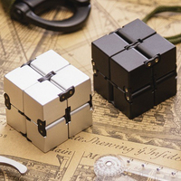 New Fashion Infinity Cube Fidget Cube Spinner High Quality Anti Stress Metal Adults Kids Gift EDC
