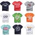 De calidad superior del verano chicos Baby t-camisas de manga corta 100% algodón niños niños T shirt Tee por 2-6 años de muchacho de la ropa 21 estilos